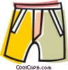 Vector Clipart image  of a shorts