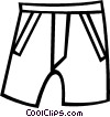 Vector Clip Art graphic  of a shorts