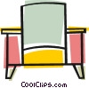 Vector Clip Art graphic  of a Living room chair