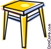 Vector Clip Art image  of a table