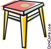 End table Vector Clip Art picture