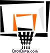 Vector Clipart graphic  of a basketball hoop