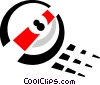 Vector Clip Art image  of a pool ball