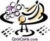 Vector Clipart image  of a Fruit on a platter