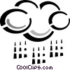 Vector Clip Art graphic  of a rain cloud