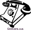 Vector Clip Art picture  of an antique telephone