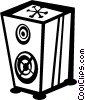 Vector Clipart graphic  of a stereo speakers
