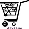 Vector Clipart image  of a shopping carts