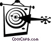 Vector Clip Art image  of an arrows and target