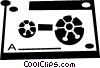 Vector Clip Art image  of a cassette tape