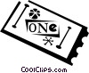 movie ticket Vector Clipart graphic