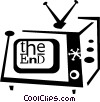 Vector Clip Art image  of a television