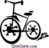 Vector Clip Art graphic  of a bicycle