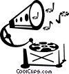 Vector Clipart picture  of a gramophone