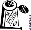 Vector Clip Art graphic  of a recycle can