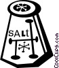 Vector Clip Art graphic  of a salt