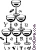 wine glasses Vector Clipart illustration