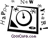 Vector Clip Art graphic  of a New Year's eve
