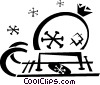 Christmas sleigh Vector Clipart graphic