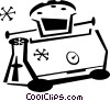 Vector Clip Art picture  of a toaster