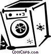 Vector Clip Art graphic  of a washing machine