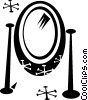 Vector Clip Art image  of a mirror