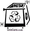 recycle box Vector Clipart picture