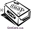 Vector Clipart illustration  of a bar of soap