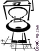 Vector Clip Art image  of a toilet