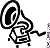 Vector Clipart graphic  of a gramophone