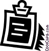 Vector Clipart graphic  of a clipboard