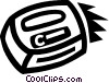 Vector Clipart graphic  of a computer key on a keyboard