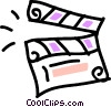 clapper board Vector Clip Art graphic