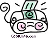 mini stereo system Vector Clipart picture