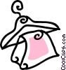 Vector Clip Art graphic  of a clothes hanger