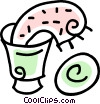 towel in a bucket Vector Clipart image