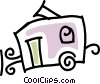 camping trailer Vector Clip Art graphic