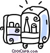 Vector Clip Art graphic  of a refrigerator