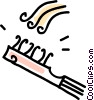 Vector Clipart picture  of a brush