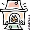 fireplace Vector Clipart graphic