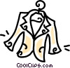 dress jacket on a hanger Vector Clip Art graphic
