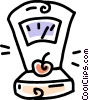 Vector Clipart graphic  of a produce scale