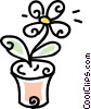 Vector Clipart image  of a potted flower