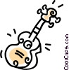 Vector Clip Art image  of a guitar