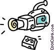 video camera Vector Clipart illustration