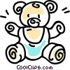 Vector Clip Art graphic  of a stuffed animal