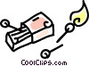 Vector Clip Art graphic  of a book of matches