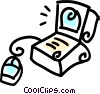 laptop/notebook computer Vector Clip Art picture
