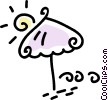 Vector Clipart picture  of a umbrella
