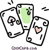 Vector Clip Art picture  of a playing cards